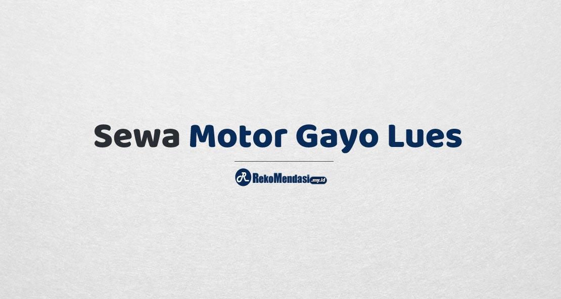 Sewa Motor Gayo Lues